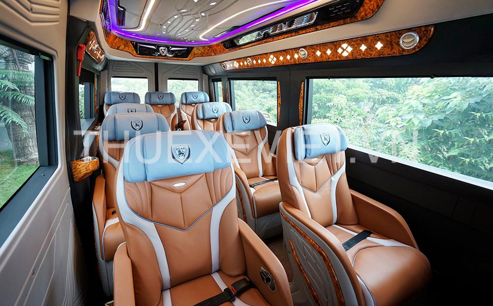 nội thất xe limousine 12 chỗ